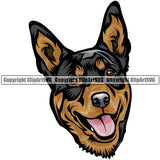Australian Kelpie Dog Breed Head Color ClipArt SVG