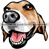 Beagle Dog Breed Head Color ClipArt SVG