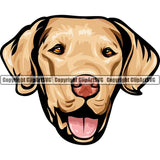 Chesapeake Bay Retriever Dog Breed Head Color ClipArt SVG
