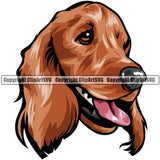 Cocker Spaniel Dog Breed Head Color ClipArt SVG