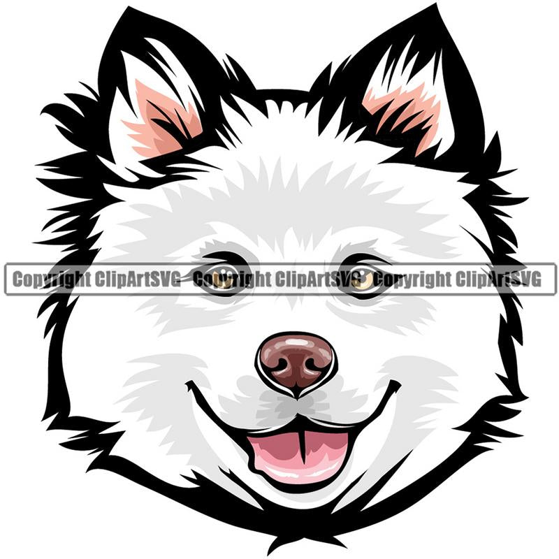 Finnish Lapphund Dog Breed Head Color ClipArt SVG