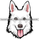 Swiss Shepherd Dog Breed Head Color ClipArt SVG