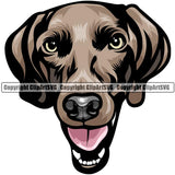 Weimaraner Dog Breed Head Color ClipArt SVG