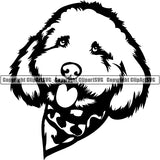 Cockapoo Dog Breed Head Face ClipArt SVG