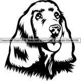 Cocker Spaniel Dog Breed Head Face ClipArt SVG