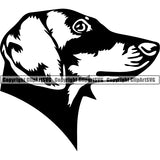 Dachshund Dog Breed Head Face ClipArt SVG