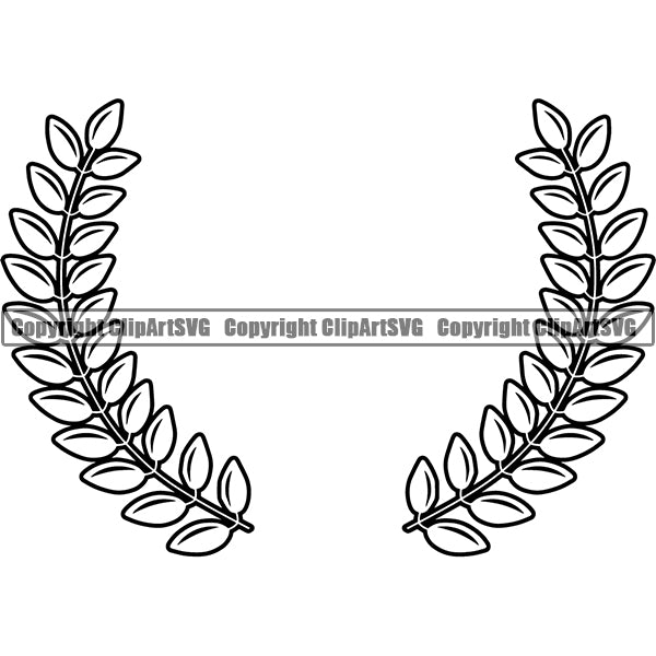 Design Element Laurel Wheat Wreath ClipArt SVG