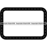 Road Street Design Element Frame Border Highway ClipArt SVG
