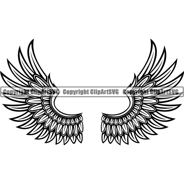 Design Element Angel Wings ClipArt SVG