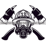 Firefighting Emblem Badge Logo