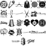 27 Tailor Seamstress Alterations Sew Sewing Clothes Fashion SUPER BUNDLE ClipArt SVG