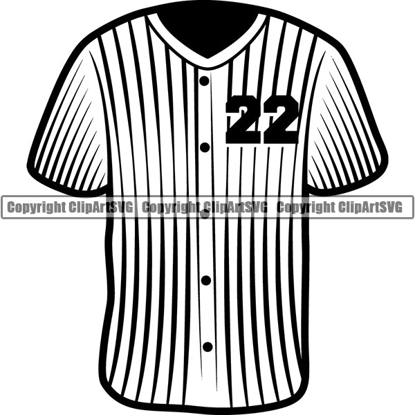 Baseball Jersey ClipArt SVG