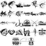 27 Fishing Design Elements Sport Game Fish Fisherman Tournament BUNDLE ClipArt SVG