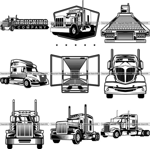 9 Truck Driver Tractor Trailer Top Selling Designs