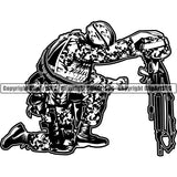Military Weapon Soldier Fallen Army Honoring Dead ClipArt SVG