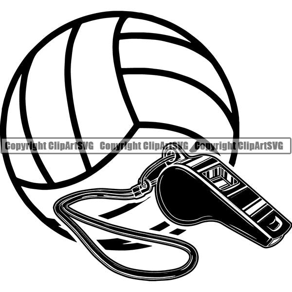 Sports Game Volleyball Logo ClipArt SVG