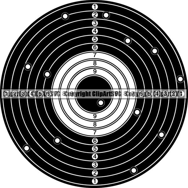 Military Weapon Gun Target ClipArt SVG