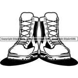 Military Weapon Soldier Boots Army ClipArt SVG