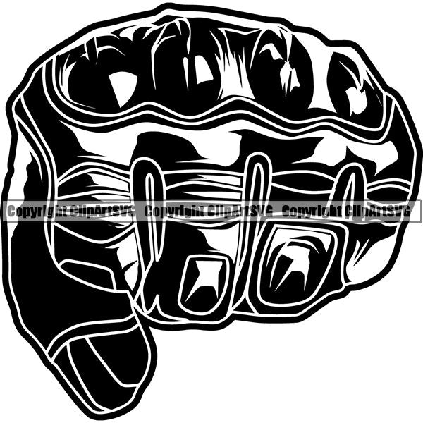 Motorcycle Sports Racing Glove ClipArt SVG