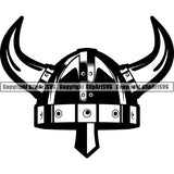 Viking Warrior Helmet Horns ClipArt SVG
