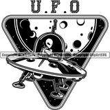 Astronaut Outer Space Shuttle Sci-Fi Science Fiction Logo ClipArt SVG