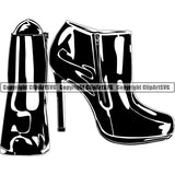Clothes Shoes Boots Womens Business ClipArt SVG