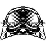 Military Weapon Soldier Helmet Army Googles ClipArt SVG