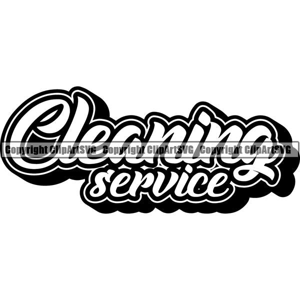 Maid Cleaning Service Housekeeping Housekeeper Text ClipArt SVG