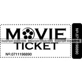 Acting Actor Movie Performer Performance Movie Ticket ClipArt SVG