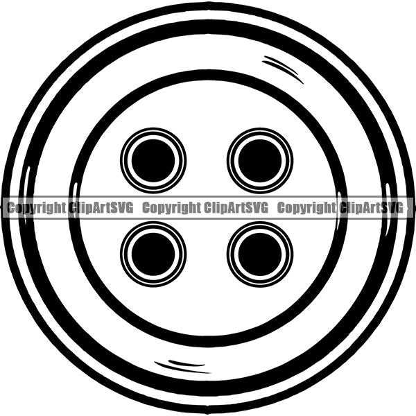 Tailor Seamstress Alterations Button ClipArt SVG