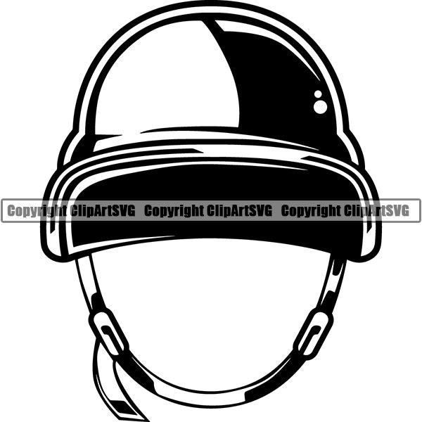 Military Weapon Soldier Swat Police Helmet ClipArt SVG