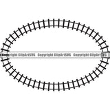 Locomotive Train Track Design Element  Black Oval.jpg