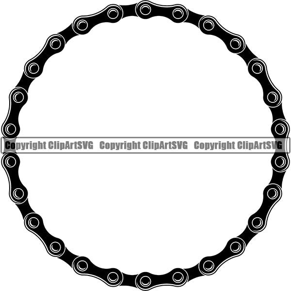Sports Bicycle Chain Black Highlight Circle.jpg
