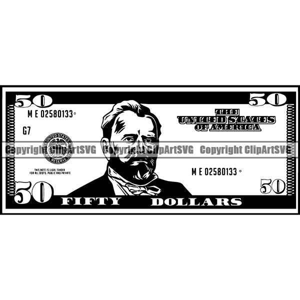 Money Cash Dollar Bill 50 Dollar Dollar Bill cfv.jpg