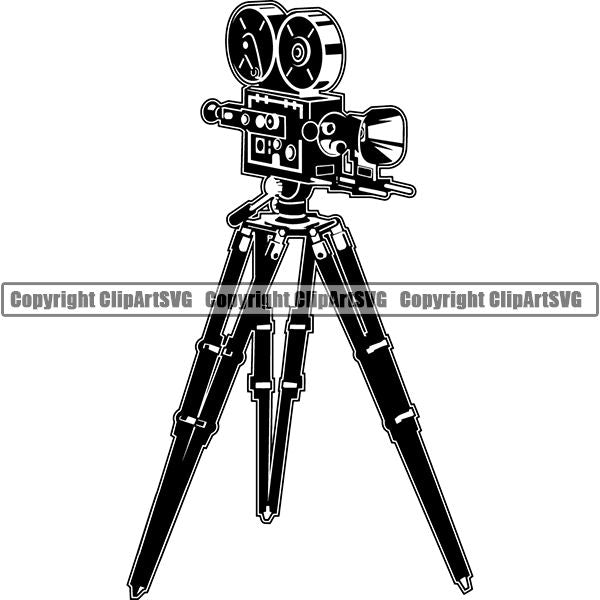 Acting Actor Movie Performer Performance Camera Recorder ClipArt SVG