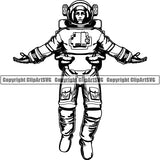 Astronaut Outer Space Shuttle Sci-Fi Science Fiction ClipArt SVG