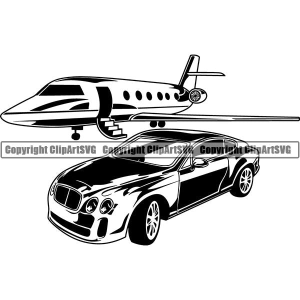 Transportation Airplane Private Jet Luxury Car 6yyh7.jpg