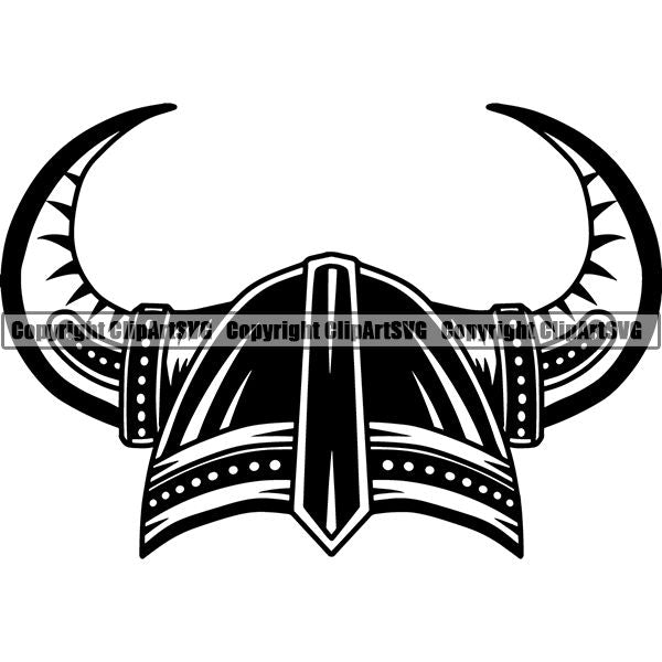 Viking Warrior Helmet ClipArt SVG