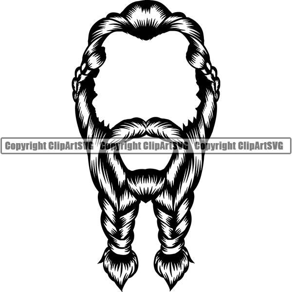 Design Element Human Hair Beard ClipArt SVG