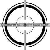 Military Weapon Gun Scope Crosshairs ClipArt SVG