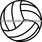 Sports Game Volleyball Ball ClipArt SVG