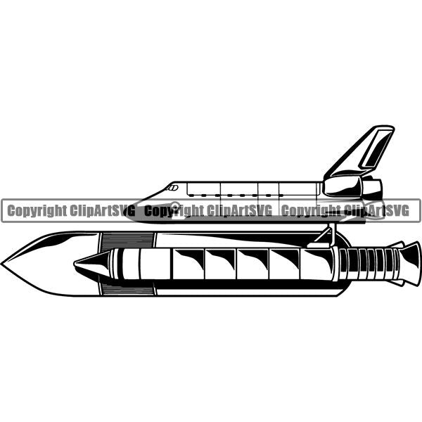 Astronaut Outer Space Shuttle Sci-Fi Science Fiction Space Shuttle ClipArt SVG