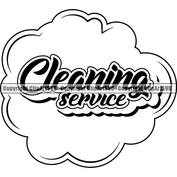 Maid Cleaning Service Housekeeping Housekeeper Logo copy ClipArt SVG