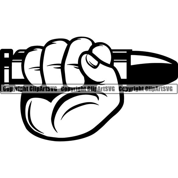 Military Weapon Gun Bullet ClipArt SVG