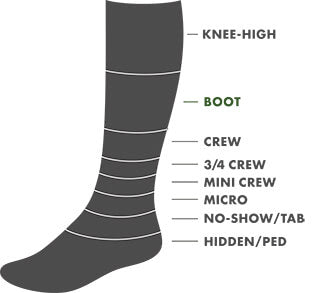 Boot Height Sock