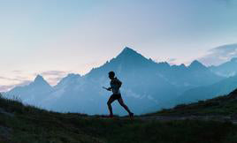 Thorlo runner in mountains