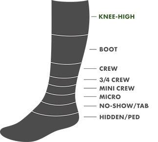 Knee-High Height Sock