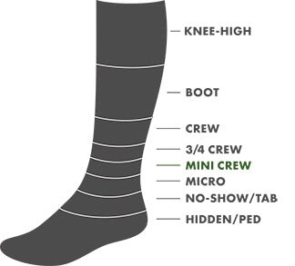 Mini Crew Height Sock