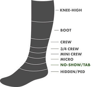 No-Show/Tab Height Sock