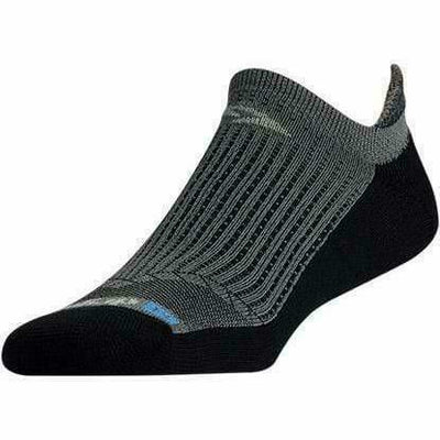 Drymax Running No Show Tab Socks - Small / Anthracite/Black
